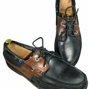 Timberland Mens Size 11.5M Brown Black Boat Shoes